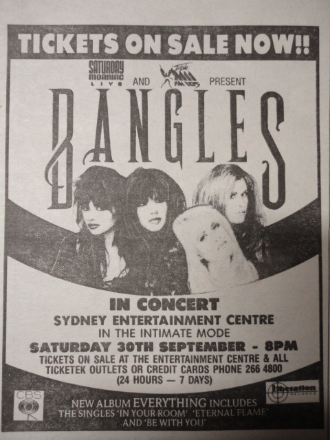 Bangles Australia 1989
