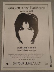 joan Jett Australia 1995